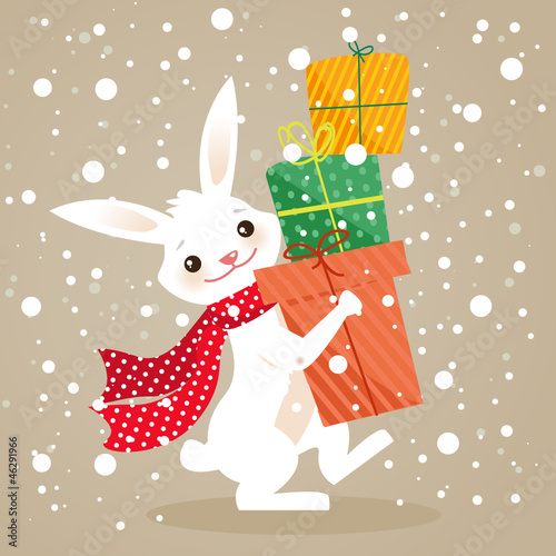 Christmas gifts, vector illustration