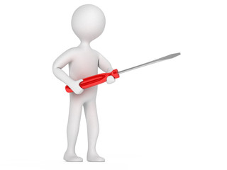 Character with a screwdriver
