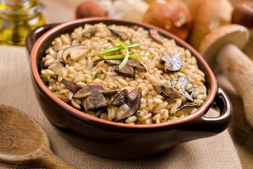 Wild mushroom risotto.