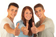 Leinwanddruck Bild - Drei Teens 30.10.12