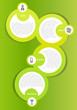 Green vector background concept for brochure or website