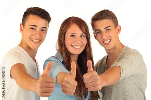 Leinwandbild Motiv Drei Teens 30.10.12