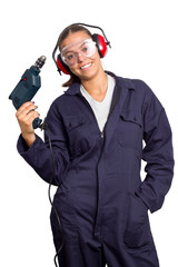 Young Girl with Drill