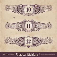 retro floral chapter dividers 4 (series)