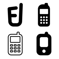 Cell phone vector icons