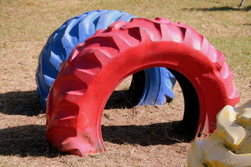 Playground Painted Wheels