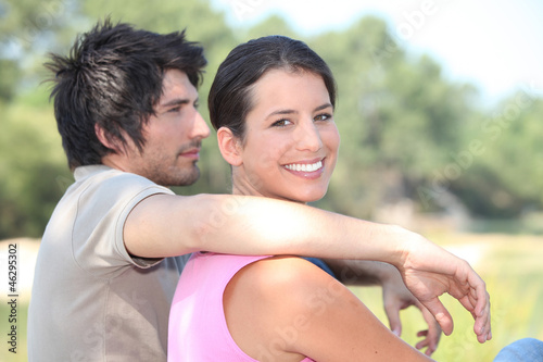 portrait of a couple outdoors