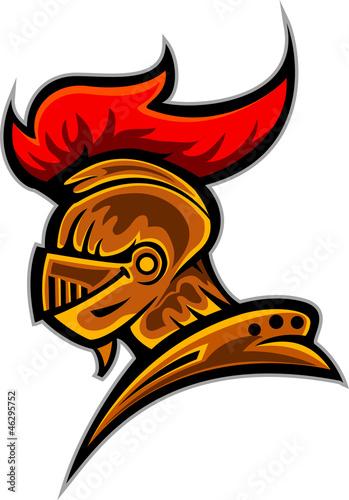 head Spartan Trojan Mascot