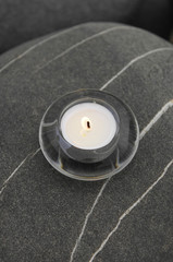 candle on stone texture