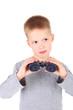 Boy and binocular