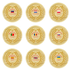 exclusive europe wooden badge collection 3