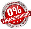 """Button Banner """"0% Finanzierung"""" rot/silber"""