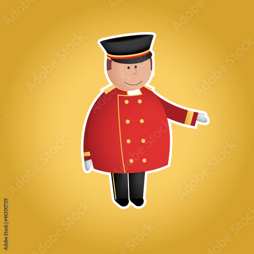 Cute doorman vector character