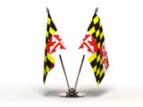 Miniature Flag of Maryland (Isolated)