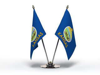 Miniature Flag of Kansas (Isolated)