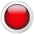 Roter Button rund Struktur