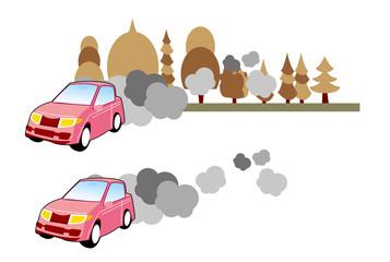 自動車,環境,汚染,排気,ガス,問題,影響
