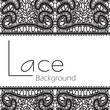 Black lace texture isolated on white background