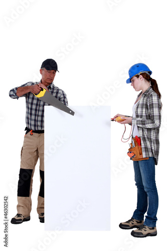 Carpenter and electrician