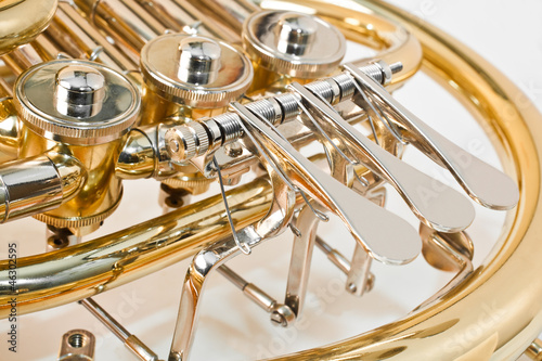 French horn closeup