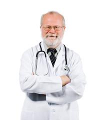 senior medical doctor on clinic