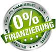 """Button Banner """"0% Finanzierung"""" grün/silber"""