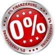 """Button """"0% Finanzierung"""" rot/silber"""