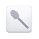 white teaspoon icon.