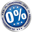 "Button ""0% Finanzierung"" blau/silber"