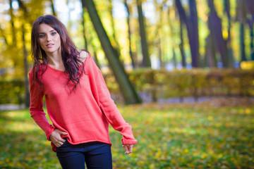 fashion girl autumn portrait