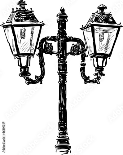 ancient street lamp