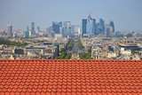 The view from the roof of the diverse architecture of Paris