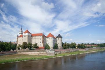 Torgau Hartenfels castle on the Elbe