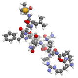 Substance P neuropeptide molecule, chemical structure.