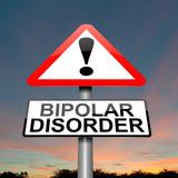 Bipolar disorder concept. poster