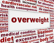 Overweight medical warning message background