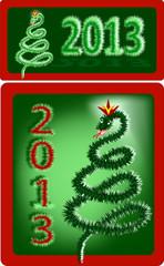 2013 Новый год змеи.