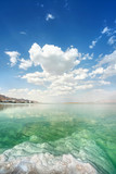 Dead Sea landscape on a summer