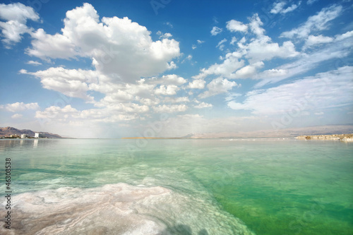 Dead Sea landscape on a  day