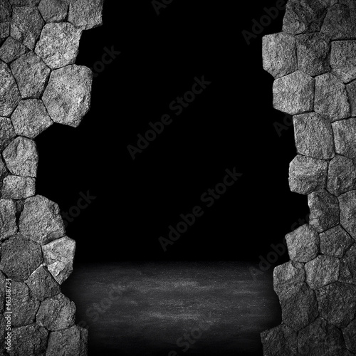 fototapete broken stone wall fototapeten aufkleber poster leinwandbilder. Black Bedroom Furniture Sets. Home Design Ideas