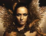 Fototapety sexy brunette phoenix woman