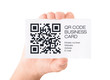 New business card with QR code information