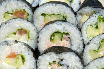 Close-up of California roll sushi