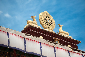 dharma wheel at Jokhang Temple