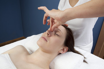 pinching facial massage