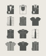 Menswear. Icon set. Vector illustration