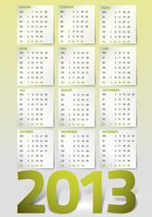 Kalendarium 2013 gelbgrün