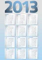 Kalendarium 2013 blau