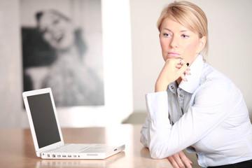 Selbstständige Geschäftsfrau