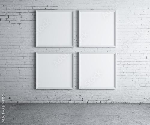 four blank frame